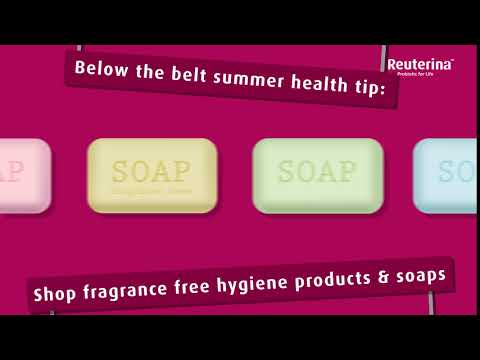 Reuterina Femme Campaign - Below the belt summer health tip