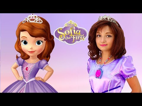 Kids Makeup Sofia the First & Costumes Disney Princess Cosplay with Colours Paints