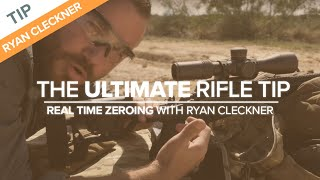 The Ultimate Rifle Tip: Real Time Zeroing with Ryan Cleckner   Long-range Shooting