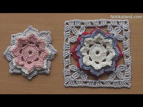 Crochet How To Crochet Flower Granny Square Tutorial For Baby