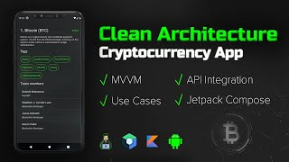 How to Make a Clean Architecture Cryptocurrency App (MVVM, Use Cases, Compose) - Android Studio