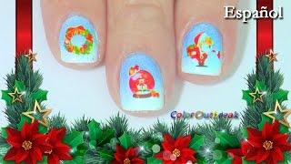 ☆Como Aplicar Calcomanías de Agua Tutorial-Diseño de Uñas para Navidad- BOP/093- LADYQUEEN☆