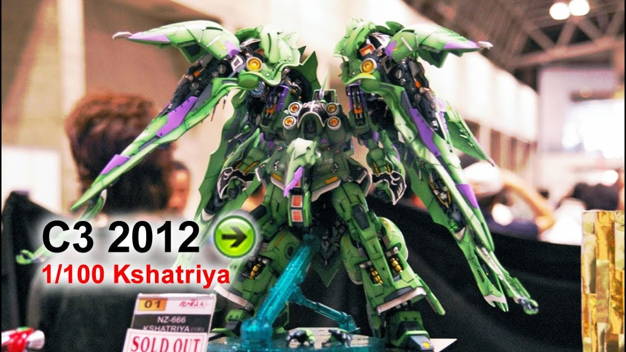 1/100 Kshatriya Resin Kit Preview C3 x Hobby 2012 (G-System + NeoGrade  compare)