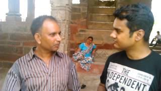 Atma Prakash Singh took Interview at 84 Khamba, Bharatpur