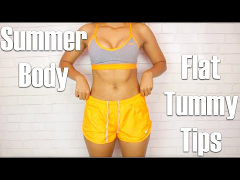 How to get a Flat Tummy/Tips