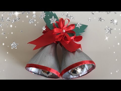 Christmas Bells From Waste Plastic Bottles / DIY / Christmas Decoration Idea For Kid   Priti Sharma