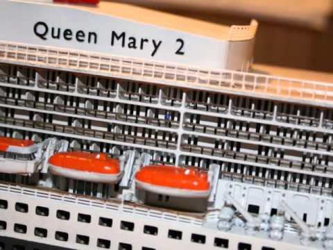 Revell queen mary 2 1 400 bilder und film youtube for Garderobe queen mary 2