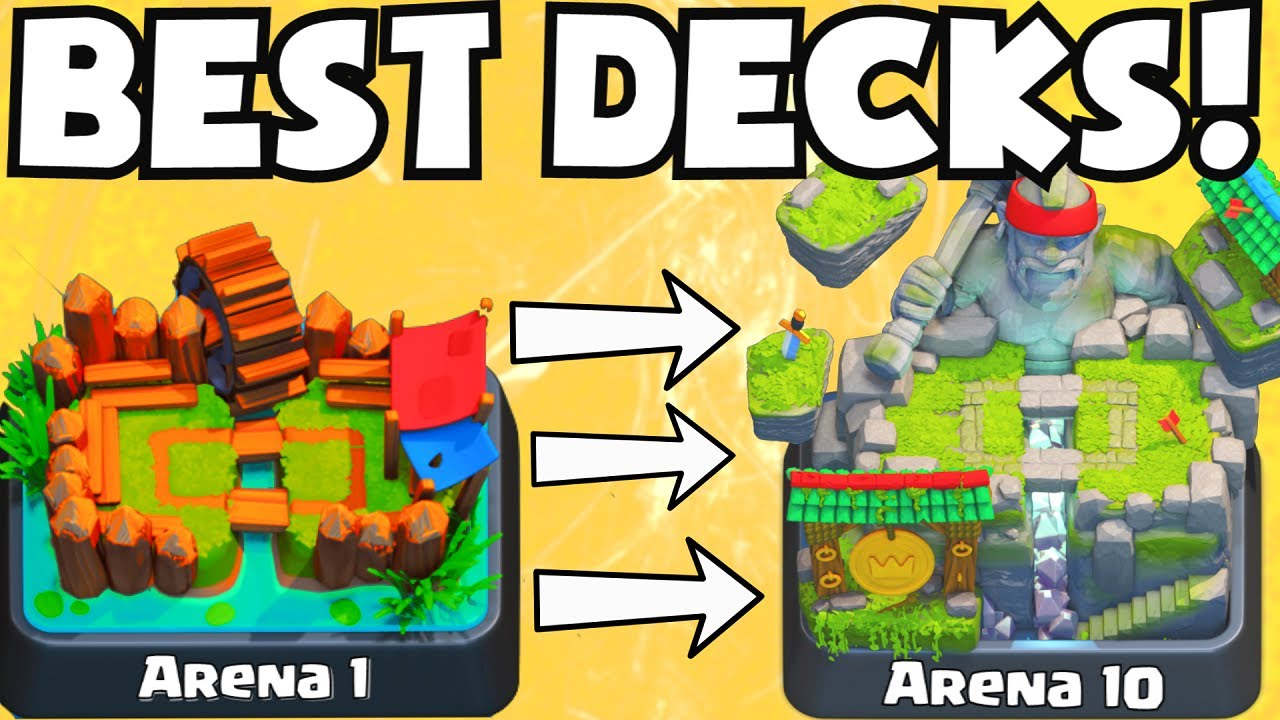 Clash royale best arena 1 arena 10 decks undefeated for Clash royale deck arc x