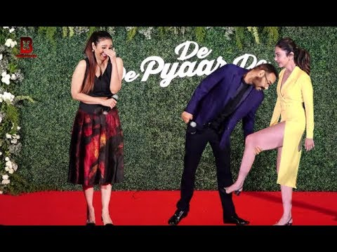 Ajay Devgn With Tabu & Rakul Preet Singh Arrives At TRAILER LAUNCH OF FILM DE DE PYAAR DE