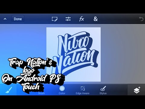[Speed Art] Making A Trap Nation Logo On Android! (BeyondCloud)