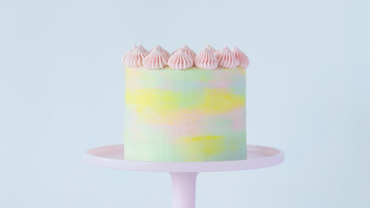 How To Make A Watercolor Cake Youtube