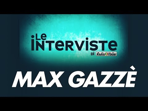Max Gazzè | Le interviste di Radio Italia | Radio Italia