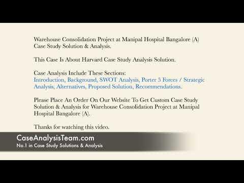 Warehouse Consolidation Project at Manipal Hospital