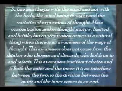 J.Krishnamurti - Meditations (text)