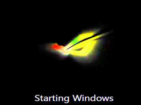 Windows 7 Asus ROG custom boot animation