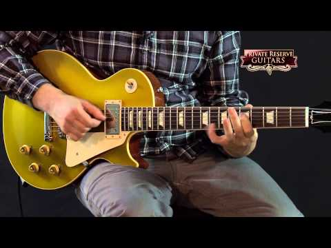 Gibson Custom 1957 Les Paul Goldtop Gloss Electric Guitar Antique Gold