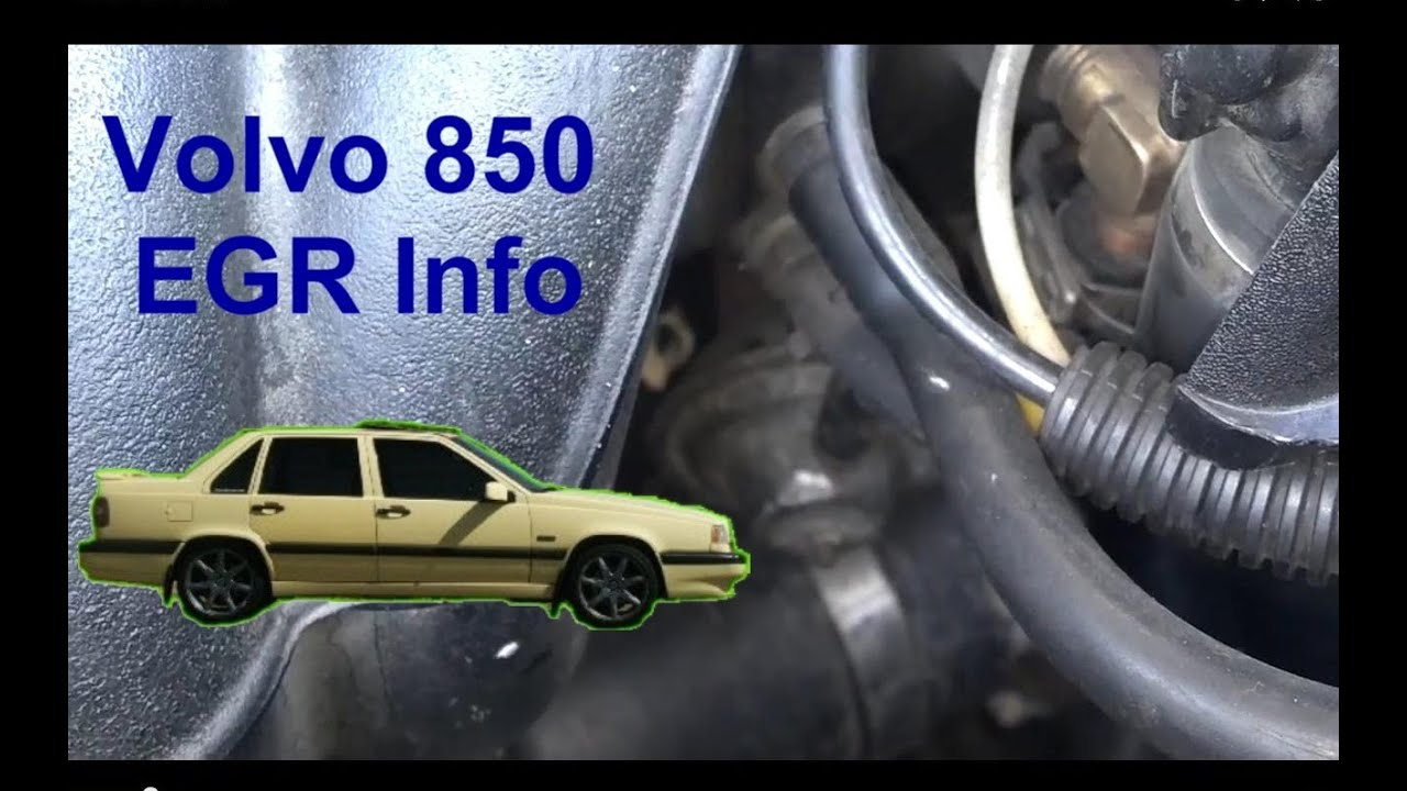 Egr Information And Location On The Volvo 850 Votd Youtube Electrical Wiring Diagram For 1996