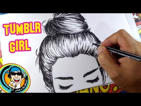 Como Desenhar Garota Tumblr How To Draw Girl Tumblr