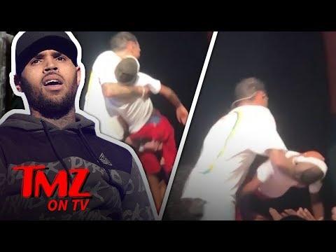 Chris Brown Saves Fainting Fan Onstage! | TMZ TV