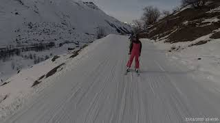 France 3 valleys Val Thorens to Les Menuires Cumin Haut blue Cumin Bas blue 2020 01 22