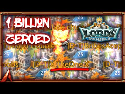 Lords Mobile 1 Billion Might Player Zeroed! X TheOne X
