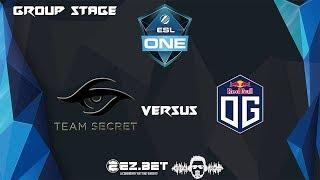 [DOTA 2 LIVE PH] Team Secret VS OG Dota2 Bo2| ESL One Katowice 2019