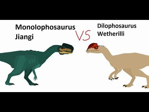BRS4 Monolophosaurus Vs Dilophosaurus Remake