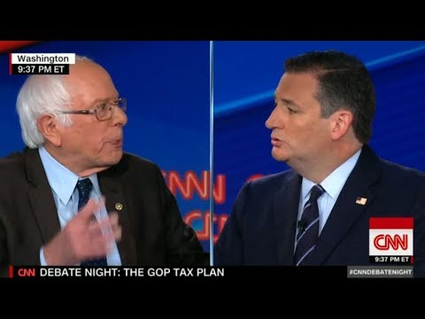 Bernie Sanders Vs Ted Cruz, Heated Argument