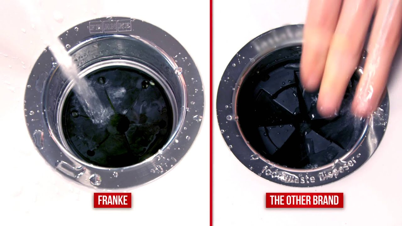 Franke Waste Disposers Vs The Other Brand Youtube