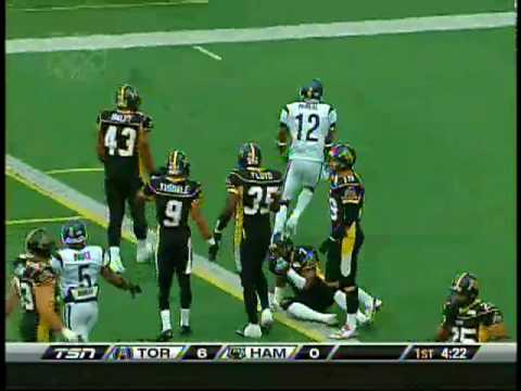 Kerry Joseph touchdown pass to Reggie McNeal vs. Hamilton