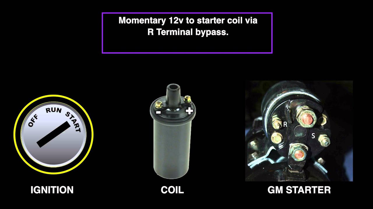 GM Starter Connections - YouTube on cat starter relay wiring diagram, toyota starter relay wiring diagram, jeep starter relay wiring diagram, dodge starter relay wiring diagram, mopar starter relay wiring diagram, caterpillar starter relay wiring diagram,