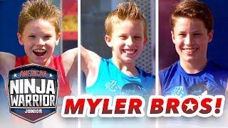 Myler Brothers NINJA COURSE SHOWDOWN (Ninja Kidz TV) | American Ninja Warrior Junior