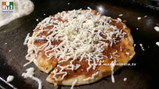 CHEESE MASALA UTAPPAM | CHEESE INDIAN PIZZA MAKING