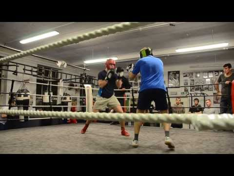 My first boxing sparring