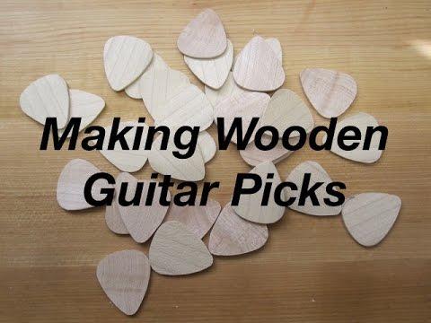 Making Wooden Guitar Picks