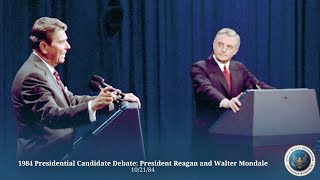 1984 presidential candidate debate president reagan and walter mondale 10 21 84