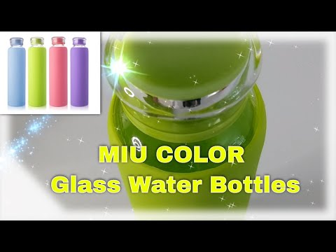 MIU COLOR Glass Water Bottles, for Beverage, Juice Bottle, to go to Sports, 16 oz, FULL REVIEW