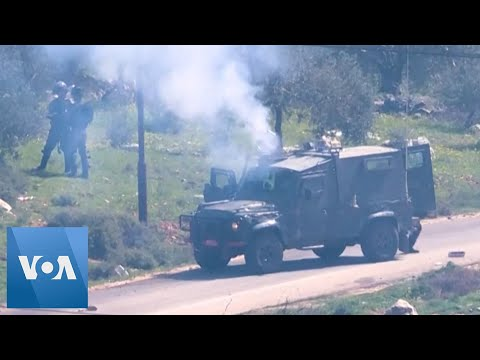 Palestinian Youths Clash With Israeli Forces In The West Bank