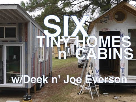 6 Tiny Houses/Cabins in one tour.... Tennessee Tiny Homes