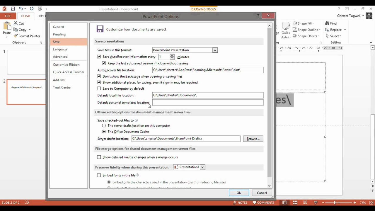 Office 2013 - where are My Templates? - YouTube