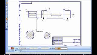 компас 3D Урок 18  Чертеж вала: размеры, шероховатости и отклонения