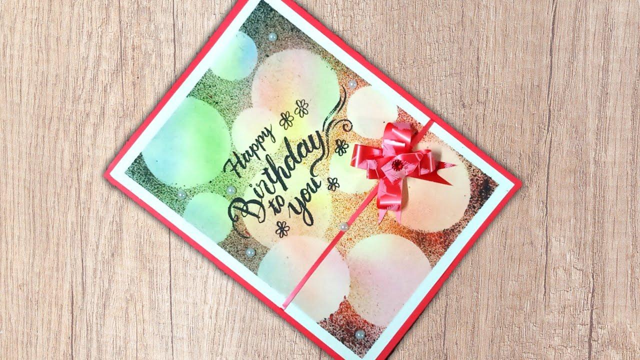 beautiful handmade birthday card idea  diy birthday