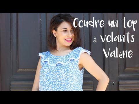Coudre le top à volants Valène / Sew the ruffle top Valène
