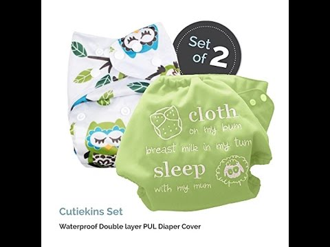 Baby Tooshy Cloth Diaper Covers With Double Gussets Youtube