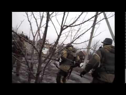 Война видео Украина Донбас Хроника войны  Ополченцы  Бои в Углегорске 18+   YouTube