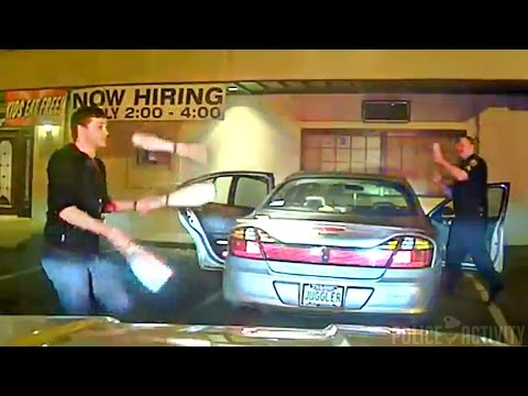 Dashcam Shows Student Juggles to Prove...