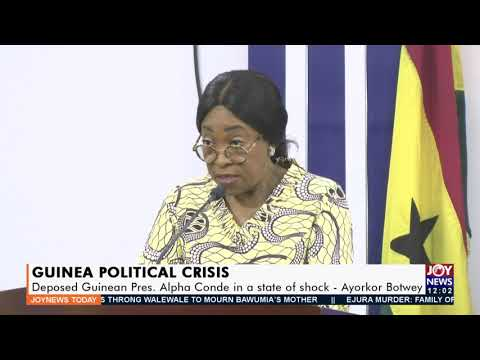 Guinea Political Crisis: Deposed Guinean Pres. Alpha Conde in a state of shock – Ayorkor (15-9-21)
