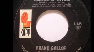 Frank Gallop - The Ballad of Irving 1966 ((Stereo))