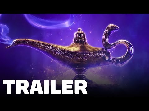 Aladdin Trailer (2019) Will Smith, Naomi Scott, Mena Massoud