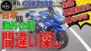 【モトブログ#6】間違い探し!GSX250R 日本仕様VS海外仕様
